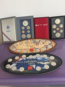 Canadian/American coin set