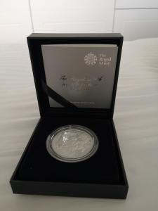 The Royal Birth 2013 UK 5 pound Silver Proof Coin (St George & The Dragon)