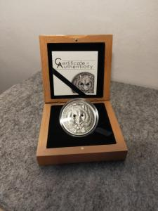 2015 Campbell's Hamster 1 oz 999 Fine Silver Coin With Swarovski Elements