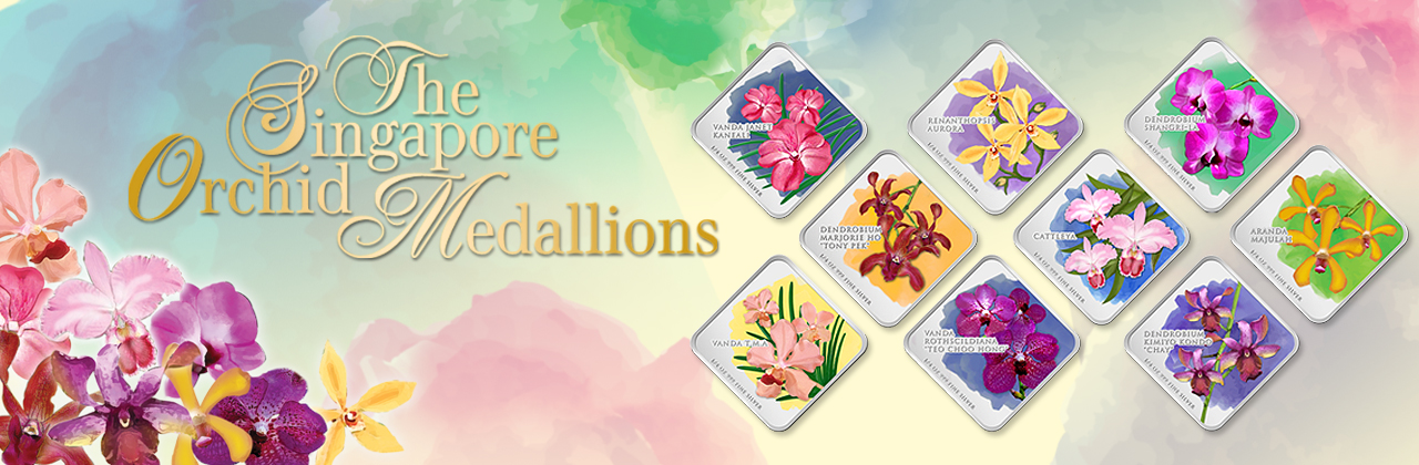 The Singapore Orchid Series Medallions