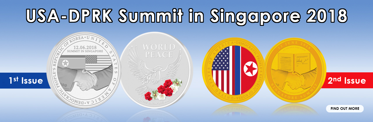 USA - DPRK Summit in Singapore 2018 (1st & 2nd Issue)