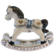 Baby Rocking Horse Figurine (Blue)