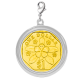 $1 Coin Chrome-Plated Pendant