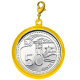 TS 50-cent Coin Gold-plated Pendant