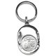 TS 50Cents Nickel Plated Oval Shape Keyring