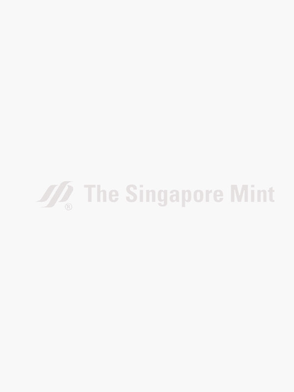 The Singapore Mint Lunar Snake 20 gm 999 Fine Silver Proof Medallion