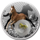 Niue Island Horse With 24K Gold Plated Silver Filigree Insert 925 Silver Proof Coin