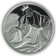 Biblical Art David Playing For Saul 1 oz  999 Fine Silver Proof Coin