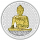 Shakyamuni Buddha Of Bhutan 5 oz 999 Fine Silver Colour Proof Coin