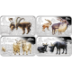 Australia Year Of The Goat 1  oz 999 Fine Silver Rectangle Four Coin Set