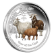 Australia Year Of The Goat 1 oz 999 Fine Silver Proof Colour Coin