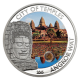 City Of Temples Angkor Wat 925 Silver Proof Coin With Cambodia Sandstone Insert