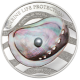 Rainbow Of The Sea Marine Life Protection 1  oz 999 Fine Silver Proof Coin