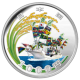 Great East Japan Earthquake Reconstruction Project- Large Fishing Boat And Ears Of Rice 999 Fine Silver Proof Coin