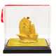 Golden Wealth Ship 24K Goldplated Figurine