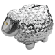 Prosperity Sheep Money Bank - Silver Colour