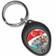 SG50 Black Oval Shape Key Chain