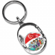 SG50 Nickel-Plated Oval Shape Key Chain