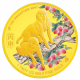 The Singapore Mint Lunar Monkey 1 oz 999.9 Fine Gold Proof Medallion