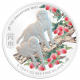 The Singapore Mint Lunar Monkey 5 oz 999 Fine Silver Proof Medallion