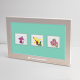 Orchid Minted Stamps 3-In-1 Silver Set
