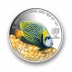 Red Sea Marine Life - Emperor Angelfish 1 oz 999 Fine Silver Proof Colour Coin