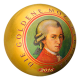 Golden Mozartkugel 999 Fine Silver Proof-Like Spherical Coin With Gold-Plating