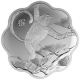Canada Year Of The Monkey 999 Fine Silver Proof Scallop-Shaped Coin
