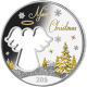 Kiribati 2015 Christmas Cut-Out Angel 2 oz 925 Fine Silver Proof Coin