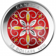 2015 Christmas Ornament $25 999 Fine Silver Proof Colour Coin