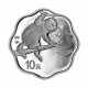 China Monkey 1 oz Blossom-Shaped 999 Fine Silver Proof Coin