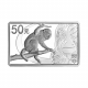 China Monkey 5 oz Rectangular 999 Fine Silver Proof Coin