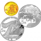 70th Anniversary Of Changchun Film Studio 1/10 oz 999.9 Fine Gold + 2 X 1/2 oz 999 Fine Silver Coin Set