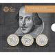 Shakespeare 3-Coin Cupro-Nickel Bu Coin Set