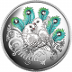 Celebration Of Love - Doves 999 Fine Silver Proof Colour Coin With Swarovski Inserts