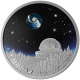 The Universe 999 Fine Silver Proof Colour Coin With Boro Glass Insert