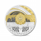 Musee d'Orsay & Petit Palais 5 oz 950 Fine Silver Proof Coin With Rhodium And Gold Deposits