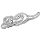 Tiger Nickel-Plated Zodiac Figurine / Chopstick Stand