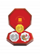 2017 Singapore Lunar Rooster Gold & Silver 3-Coin Set
