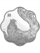Canada Year of the Rooster 999 Fine Silver Proof Scallop-Shaped Coin