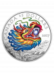 2017 Dragon Boat 1oz 999.9 Fine Silver Proof Colour Coin