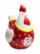 Prosperity Rooster Money Bank - Red