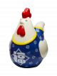Prosperity Rooster Money Bank - Blue