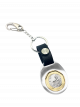 TS $1 Coin Silver Keyring II with Black Leather Strap