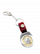 TS $1 Coin Silver Keyring II with Red Leather Strap