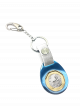 TS $1 Coin Blue Keyring II with Silver Leather Strap