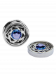 September Sapphire Birthstone Interchangeable Cufflinks Charm