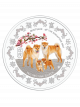 The Singapore Mint Lunar Dog 1 kg 999 Fine Silver Proof-like Colour Medallion