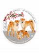 The Singapore Mint Lunar Dog 20 gm 999 Fine Silver Proof Colour Medallion