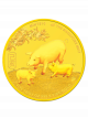 The Singapore Mint Lunar Boar 1/10 oz 999.9 Fine Gold Proof Medallion